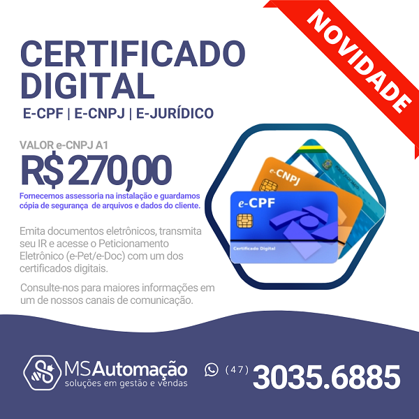 CERTIFICADO DIGITAL e-CPF | e-CNPJ | e-Jurídico
